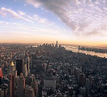 Empire State Building Sunset by ADayOfShooting