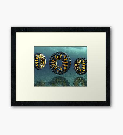 Mechanical Donuts Framed Print