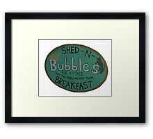 For Kitties and the people who love them BREAKFAST. Framed Print