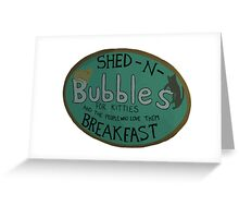 For Kitties and the people who love them BREAKFAST. Greeting Card