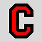 Letter C Black/Red Character by theshirtshops