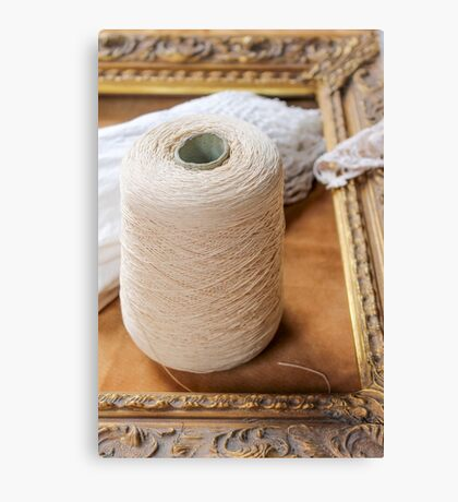 skein of wool and frame Canvas Print