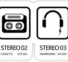 Stereo icons Sticker