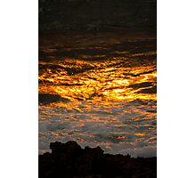 Tonight, The Sun Fell into The Sea.... Photographic Print
