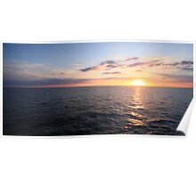 Sunset At Sea 03 Poster