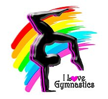 BEAUTIFUL RAINBOW GYMNASTICS DESIGN by JLPOriginals