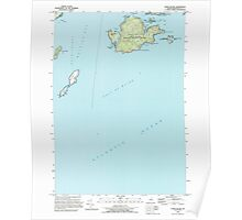Maine USGS Historical Map Cross Island 105055 1993 24000 Poster