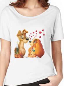 Lady and the Tramp Women's Relaxed Fit T-Shirt