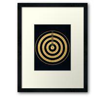 Bulls Eye! Framed Print