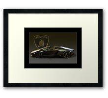 Matt Black Lambo Roadster Framed Print