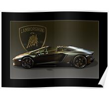 Matt Black Lambo Roadster Poster