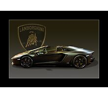 Matt Black Lambo Roadster Photographic Print