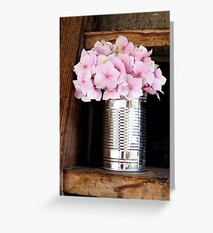 Pale pink Hydrangea Greeting Card
