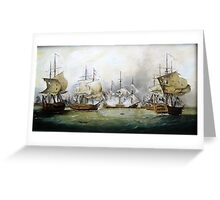 naval battle   Greeting Card