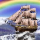 Rainbow ship 2 by Annika Strömgren
