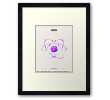Argon - Element Art Framed Print