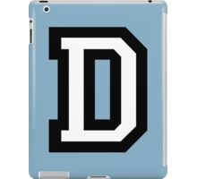Letter D two-color iPad Case/Skin