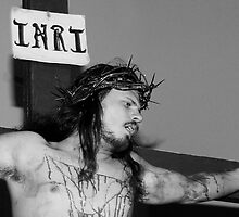 Crucifixion INRI by Deanna Roy