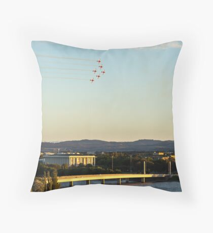 Roulettes over National Library Australia Throw Pillow