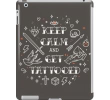 Keep Calm and Get Tattooed iPad Case/Skin