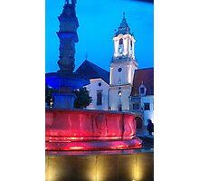 Bratislava Square Photographic Print