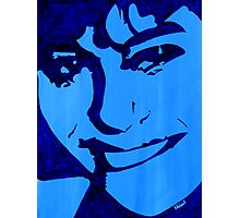 """Blue Girl"" original signed acrylic painting on canvas Photographic Print"