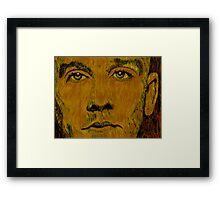 """Stipe Three"" original signed acrylic painting on canvas Framed Print"