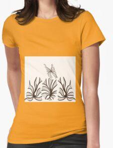Florals & Fluttery Womens Fitted T-Shirt