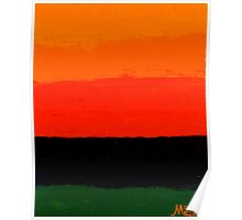 """Sunset"" abstract nature painting Poster"