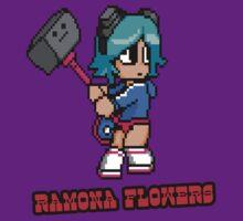 Ramona Flowers in Pixel Art by TrezzeDesigns