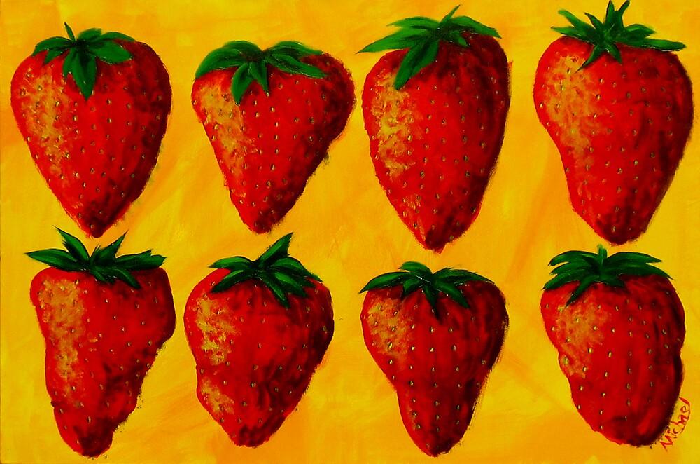 """Strawberry Fields"" original pop art painting by Michael Arnold"