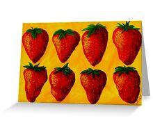 """Strawberry Fields"" original pop art painting Greeting Card"