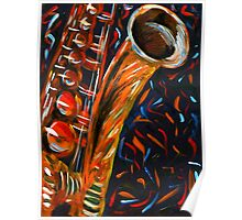 """Saxophone"" original signed acrylic painting on canvas Poster"