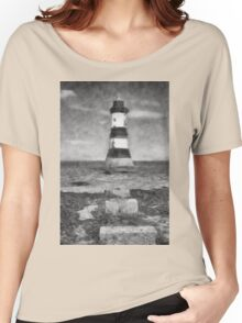 Penmon Lighthouse Women's Relaxed Fit T-Shirt