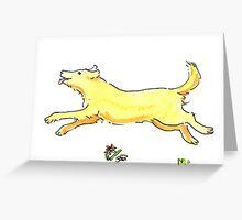Running Dog Greeting Card
