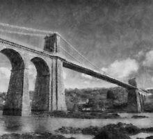 Menai Suspension Bridge by Ian Mitchell