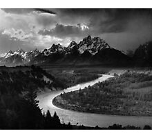 Ansel Adams The Tetons and the Snake River (1942) Grand Teton National Park, Wyoming Photographic Print