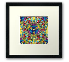 Psychedelic jungle kaleidoscope ornament 35 Framed Print