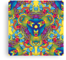Psychedelic jungle kaleidoscope ornament 35 Canvas Print