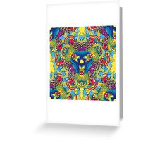 Psychedelic jungle kaleidoscope ornament 35 Greeting Card