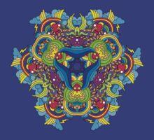 Psychedelic jungle kaleidoscope ornament 35 T-Shirt