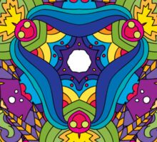 Psychedelic jungle kaleidoscope ornament 35 Sticker