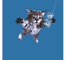 Awesome Grunge cat.  Photographic Print
