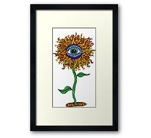 Psychedelic Sunflower - Exciting New Art - Doona is my favourite! Framed Print