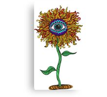 Psychedelic Sunflower - Exciting New Art - Doona is my favourite! Canvas Print