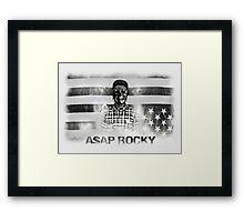 A$AP ROCKY BLACKWHITE SKULL Framed Print