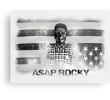 A$AP ROCKY BLACK\WHITE SKULL Metal Print