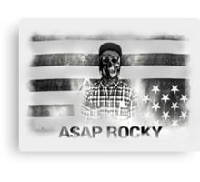 A$AP ROCKY BLACK\WHITE SKULL Canvas Print