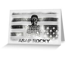 A$AP ROCKY BLACK\WHITE SKULL Greeting Card