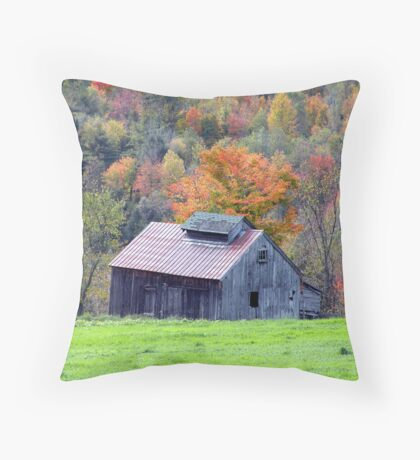 Sugarhouse Among the Maples Throw Pillow